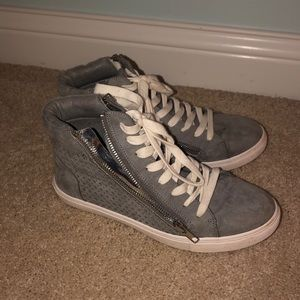 Steve Madden grey high top shoes